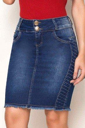 saia jeans recortes laterais barra desfiada laura rosa baixo
