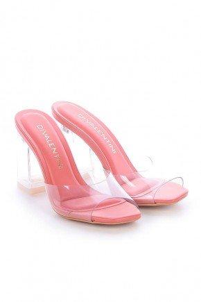 tamanco feminino salto grosso natalie di valentini vinil rosa dv4255ro 4