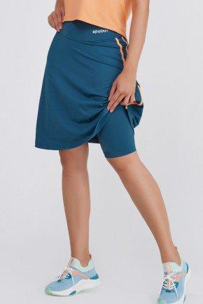 shorts saia poliamida alta compressao azul petroleo uv50 epulari ep1092 frente4