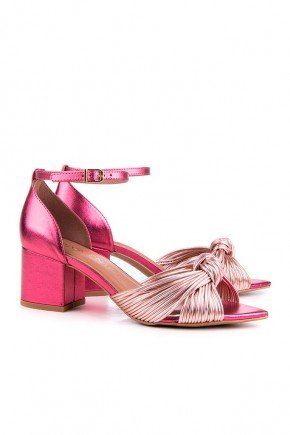 sandalia rosa metalizada salto grosso stiffani di valentini dv4224ro 3
