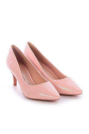 scarpin rosa croco salto mid edna di valentini dv4125ro 3