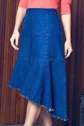 saia jeans barrado assimetrico via tolentino
