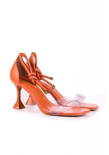 sandalia laranja salto taca dayla di valentini dv4253la 3
