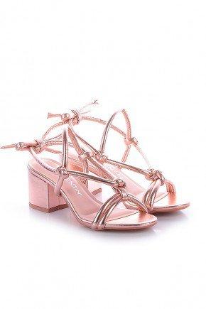 sandalia metalizada rosa salto grosso ohana di valentini dv4188ro 4