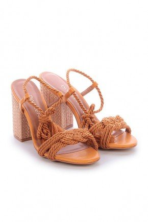 sandalia marrom com amarracao salto sisal beth di valentini dv4100ma 3
