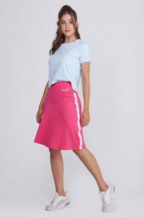 shorts saia fitness rosa poliester uv50 epulari ep012rn frente 1