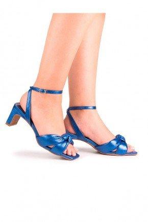 sandalia azul metalizada salto fino sol di valentini dv4281az 2