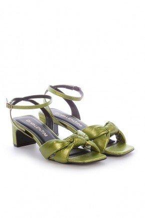 sandalia verdel metalizada salto fino sol di valentini dv4281vd 3