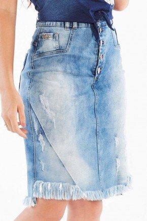 saia jeans barra desfiada nitido jeans baixo