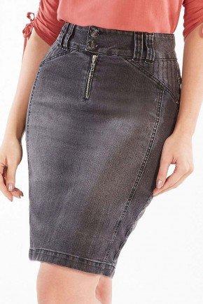 saia secretaria jeans black nitido jeans baixo