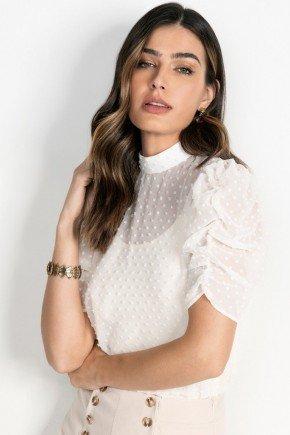 blusa off white transparente com mangas bufantes wanessa principessa 1050015436 1