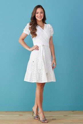 vestido off white transpassado em lesie tata martello