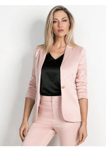blazer feminino rose botao unico renate principessa 1140001436 2