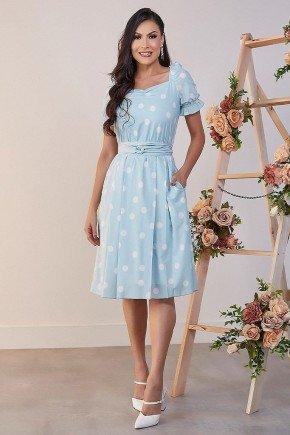 vestido gode azul com poas erica jany pim jpv50868 3