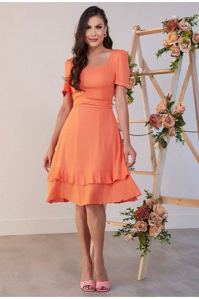 vestido gode laranja aline jany pim jpv50864 2