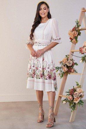 vestido estampado floral evase gabriela jany pim jpv9177mc 2