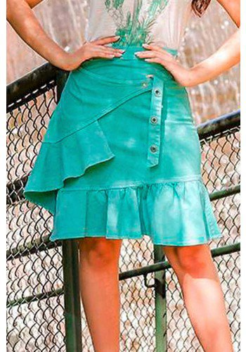 saia verde com babados lariane raje jeans rj18235 3