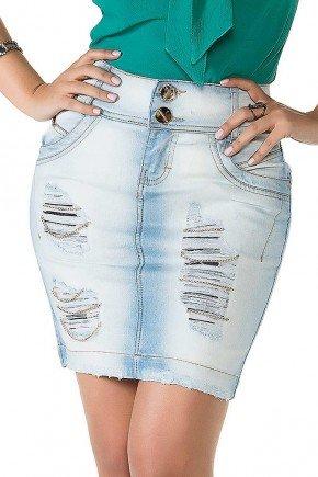saia jeans detalhe puidos correntes titanium jeans baixo