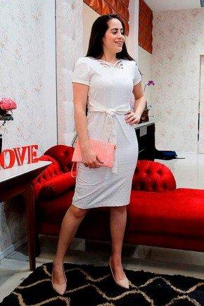 vestido jacquard off white raje jeans rj17455b 2