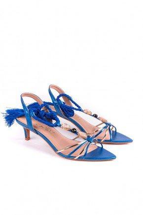 sandalia metalizada azul com amarracao lindsay l atelier lt1184az 4