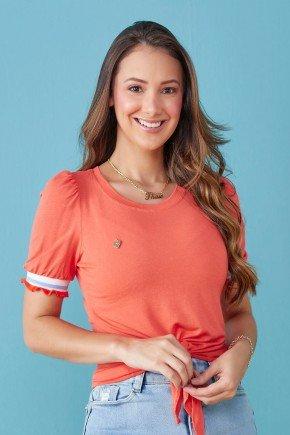 blusa laranja punho com babados ellen tata martello tm7203lj 1