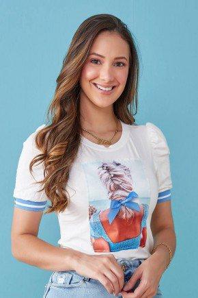 blusa branca estampada com bordado ivete tata martello tm7201az 1