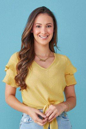 blusa amarela com babados margareth tata martello tm7150am 1