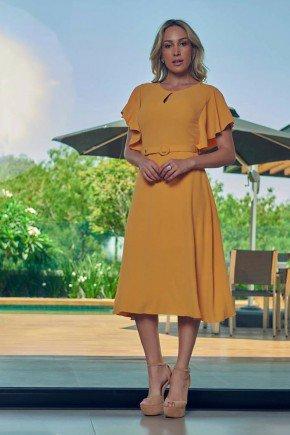 vestido midi amarelo com babados via tolentino vt040035 10