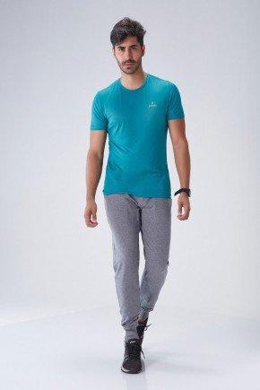 calca jogger masculina moleton cinza holyfit frente