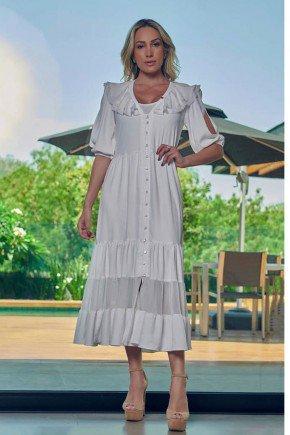 vestido longo off white com babados e abotoamento frontal via tolentino vt040036 6