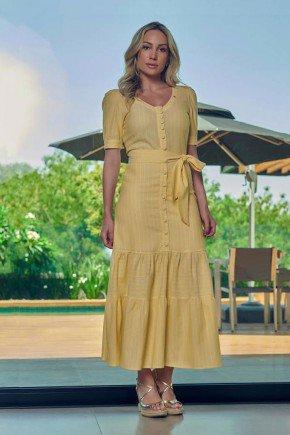 vestido longo amarelo listrado com abotoamento frontal via tolentino vt040038 1