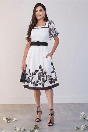 vestido midi preto e branco akila jany pim jpv50783 1