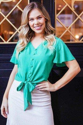 blusa verde com mangas gode e amarracao via tolentino vt50064 2
