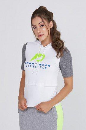 blusa fitness branca com capuz poliamida com protecao uv50 epulari frente 3