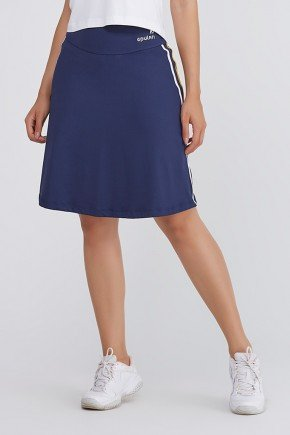 shorts saia azul marinho galao amarelo branco poliamida uv50 epulari frente 2