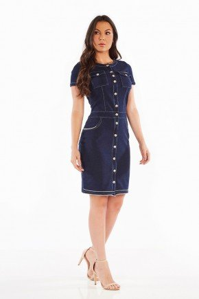 vestido jeans com botoes frontal nitido jeans 236018712 7