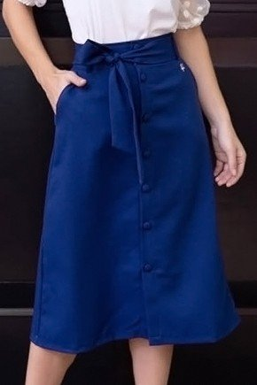 saia midi azul marinho com botoes frontal via tolentino vt10108 1