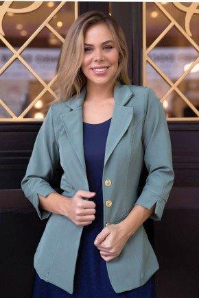 blazer feminino verde punho com abertura via tolentino vt60005vd 1