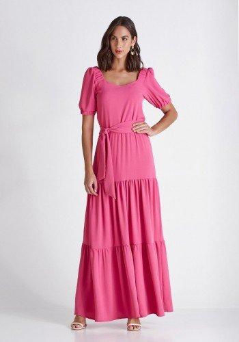 vestido longo pink com babados georgia cloa cl2213pk 11