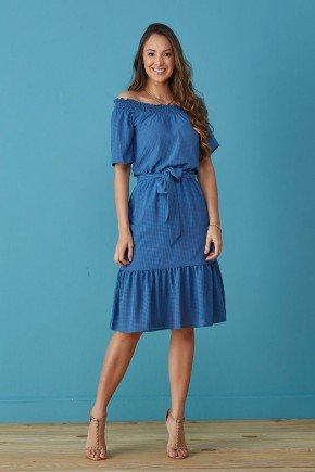 vestido azul ombro a ombro iolanda tata martello tm7250az 1