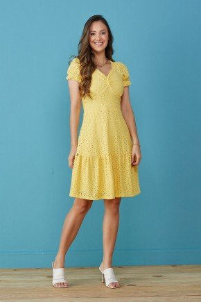 vestido amarelo em malha laise ariadne tata martello tm7242am 5