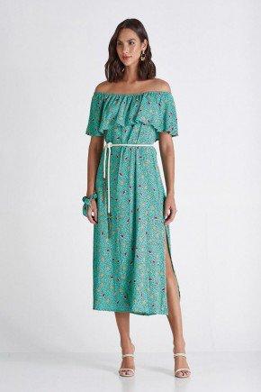 vestido verde estampado com scrunchie camila cloa cl2228vd 1