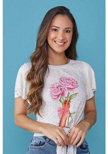 blusa off white estampa exclusiva com amarracao tata martello