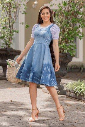vestido gode jeans com blusa branca beatriz raje jeans rj18380 1