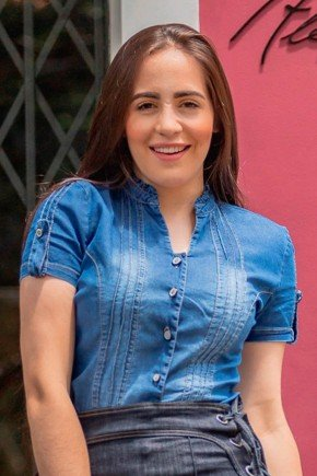 camisa jeans manga curta mariana raje jeans rj18795 1