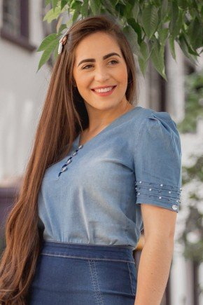 blusa jeans com bordado manual lara raje jeans rj18930 1