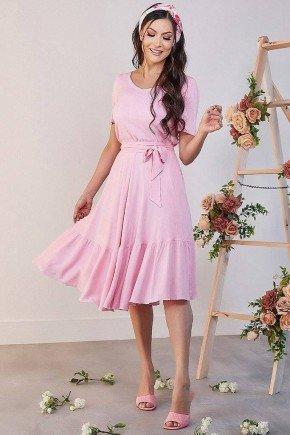 vestido midi rosa com babados kelly jany pim jpv50865 1