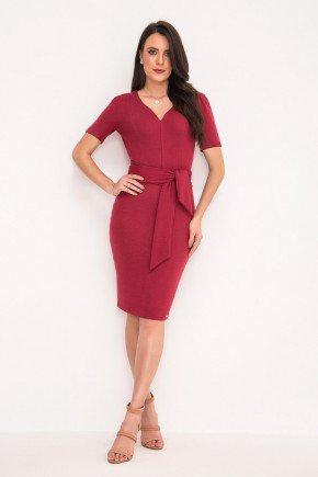 vestido tubinho vermelho com faixa laura rosa lr89358 1