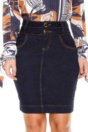 saia reta marinho costuras aparentes titanium jeans baixo