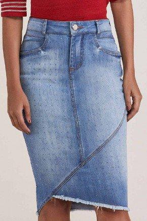 saia jeans midi assimetrica com apliques titanium jeans ttn24856 2